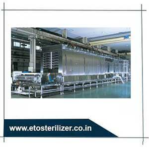 ETO Sterilizer, continuous steam sterilizer, instrument Steam Sterilizer India